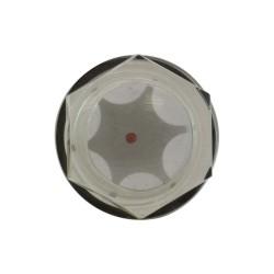 """Voyant de niveau bulle 1""""1/4 PVC translucide"""