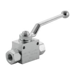 """Manual valve - 3V - 1/4"""" - PN 500 - in L"""