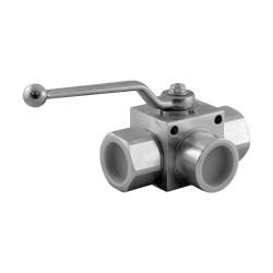 """Vanne manuelle - 3V - 1""""1/4 - PN 350 - en L"""