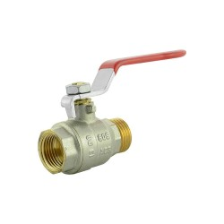 "Ball valve brass 1/2"" M/F"