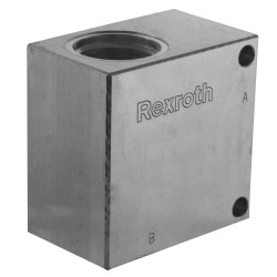 "Block 3/4"" aluminium cavity 021"