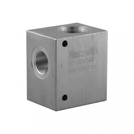 """Bloc 1"""" aluminium cavité 004"""