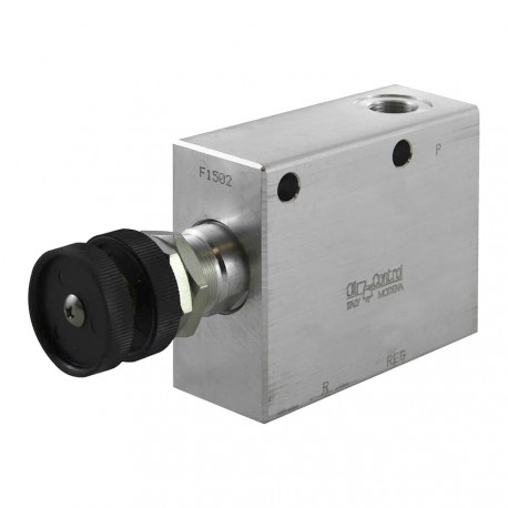 "Pressure reducer 20l/mn block 3/8"" VRP R VU 38 100 bar max set. handwheel"