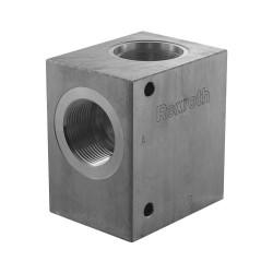"""Bloc 1""""1/4 aluminium cavité 004"""