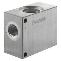 "Block 1/2"" aluminium cavity 017 commande manuelle"