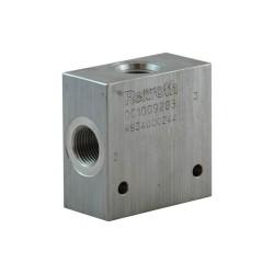 """Block 1/2"""" aluminium cavity 077 - 3 voies - CA 10A 3N"""