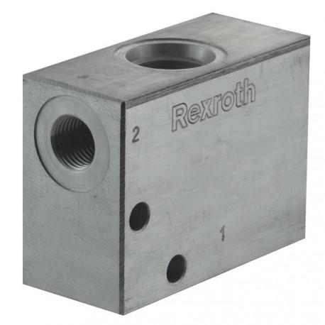 """Bloc 1/4"""" aluminium cavité 018"""