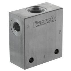 """Block 1/4"""" aluminium cavity 051 - 3-way CA 08A 3N"""