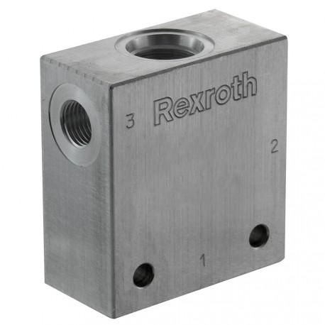 """Bloc 1/4"""" aluminium cavité 051"""