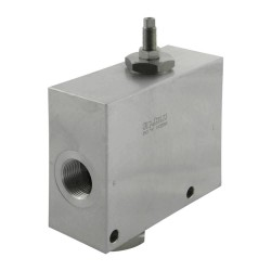 "2-way flow regulator 1/2"" with vis"