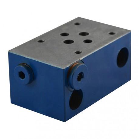"""Embase spécial cetop 3 1 élément acier 3/8"""" embase de fermeture + PP 1/4"""""""