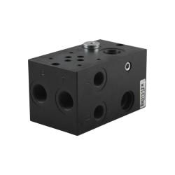 """Embase cetop3 1 éléments acier 1/2 3/8"""" sans LP + bypass à prévoir"""
