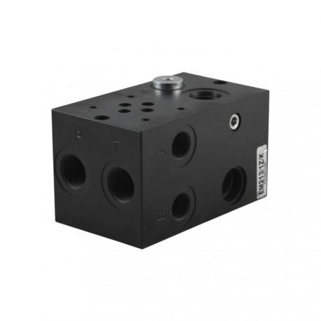 Embase cetop3 1él acier 1/2 3/8 sans LP + bypass à prévoir
