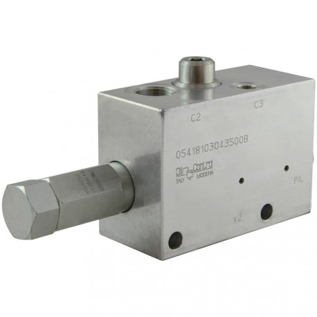 Counterbalance motor valve