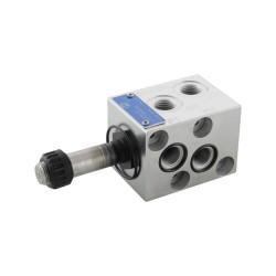 """Déviateur 6V 25l/mn 1/4"""" VS120F 6AI sans bobine C36 - empilable"""