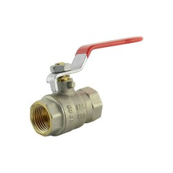 "Ball valve brass 1/2"" female/female"
