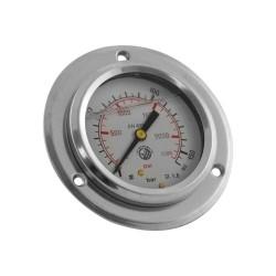Manomètre à collerette 0 à 160 bar diamètre 63 raccord arrière
