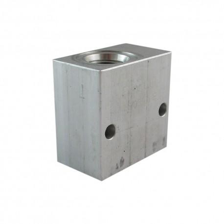 """Block 3/8"""" aluminium special cavity 019E/V096001"""
