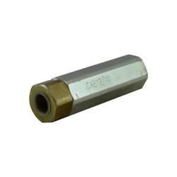 Unidirectionnal check valve dual acting