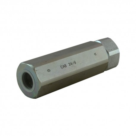 Unidirectionnal check valve dual action 3/4""