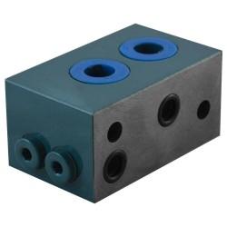 """Embase spéciale cetop 3 1 élément acier 3/8"""" montage série"""