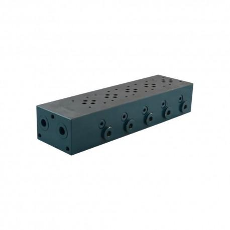 plate cetop3 5él acier 1/2 3/8 + LPC7 à ajouter