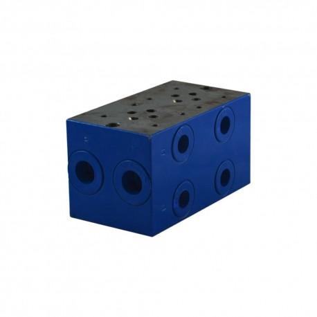 """Embase cetop3 2 éléments acier 1/2"""" 3/8"""""""
