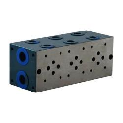 """Embase cetop 3 3 éléments acier 1/2"""" 3/8"""""""