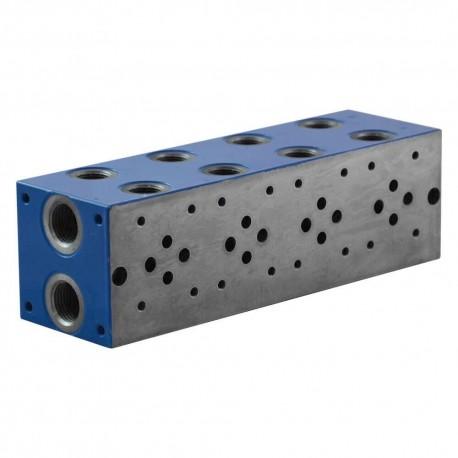 """Embase cetop 3 4 éléments acier 1/2"""" 3/8"""""""