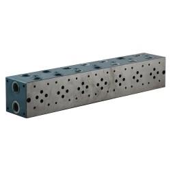 """Embase cetop 3 7 éléments acier 1/2"""" 3/8"""""""