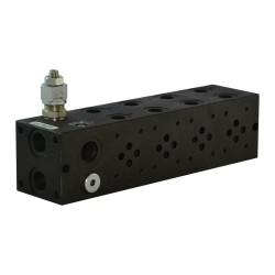plate cetop3 4.él acier 1/2 3/8 LP 100/350 bar + bypass à prévoir