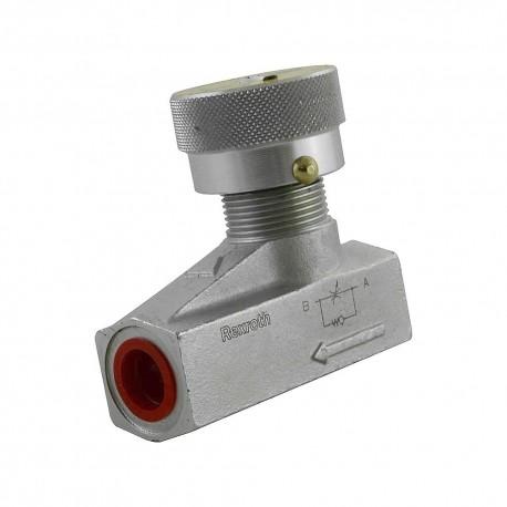 Way flow control valve 3/8 45l/mn 450b. montage tabl. ss ecro