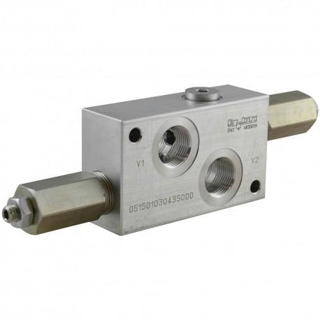 Motor valve dual cross relief