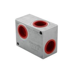 "Bloc aluminium pour limiteur LC oleodinamica LPC10 3/4"""