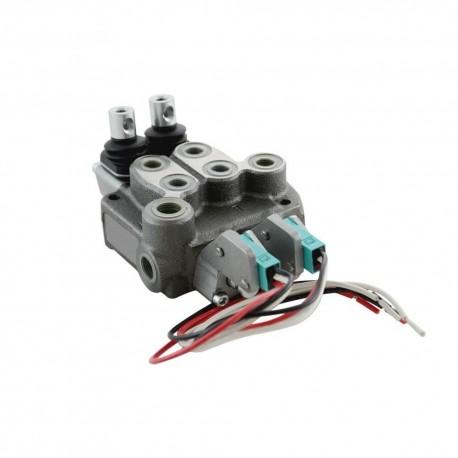 Single block distributor 17l/mn 2 elements 250 bar BM20/2 GU MOA1 MSWWO x2