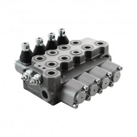Single block distributor 35l/mn 4 elements 250 b BM40/4 GU MOA1x2 MOA1VSA MOA1VSB