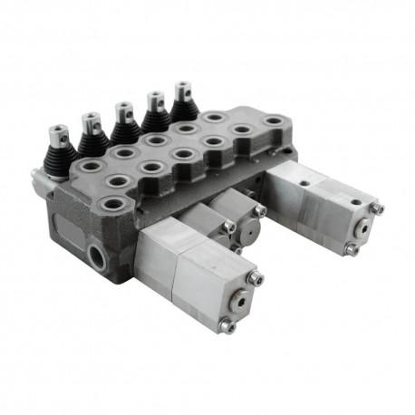 Single block distributor 35l/mn 5 elements BM40/5 GU MOA1P / MO A1x4