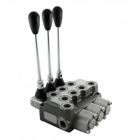 Single block distributor 50l/mn 3 elements 250 bar BM50/3 GU MOA1x3