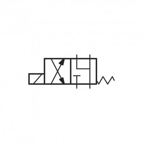 Cetop3 4x2 à levier crt, P fermé, A et B vers T