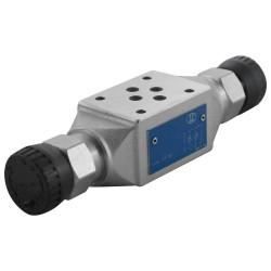 Cetop3 flow modular on flow inlet AB LC1M.VF2/AB.2K with handwheel