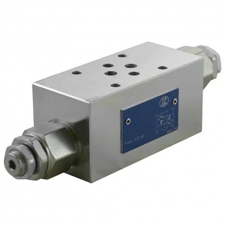 Cetop3 modular press.AB LC1M VM2/AB SB setting vis 40/180 bar