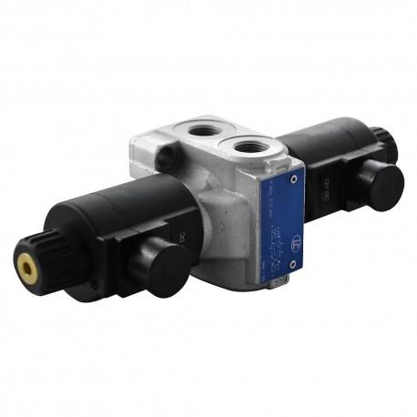 Distributeur cetop 3 4x3 PT 70l/mn monobloc 12 Vcc