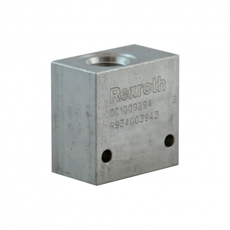 bloc hydraulique aluminum cavité 036 raccordement 3/8