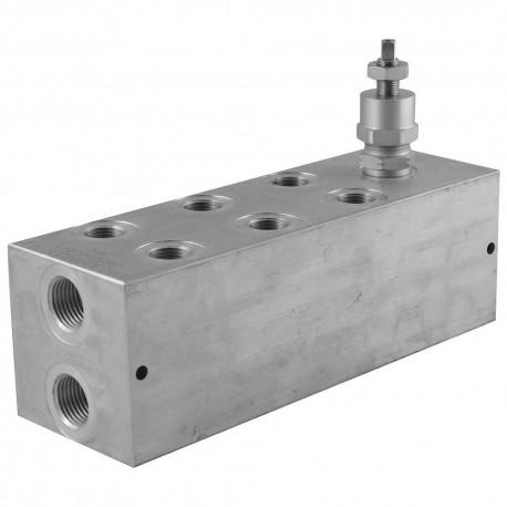 Embase cetop 3 3 éléments aluminium + LP 35/210 bar