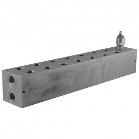 Embase cetop 3 7 éléments aluminium + LP 35/210 bar