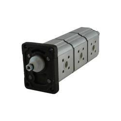 gear pump triple Gr1+1+1 6.25cc x3 rot.D br std ita con.1/8