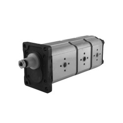 gear pump triple Gr2 16.00+14.00+06.20cc rot.D br std ita con.1/8