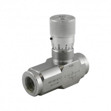 Way flow control valve 3/4'' 60l/mn 280 bar STL