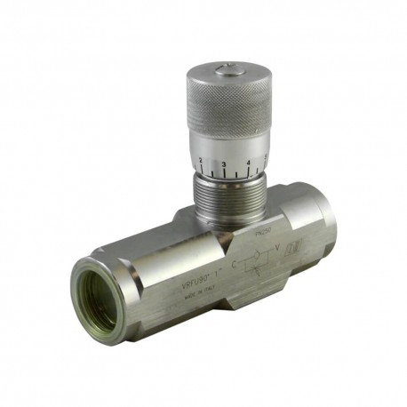 Way flow control valve 1'' 80l/mn 250 bar STL